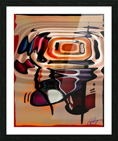 ABSTRACTO-2002 Drainage Picture Frame print
