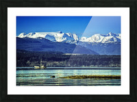 Comox Glacier and Herring Boat Picture Frame print