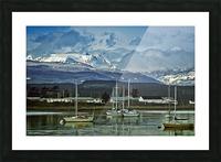 Comox Glacier Overlooking Comox Harbor Picture Frame print