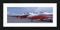 Snowbirds Between Shows Picture Frame print