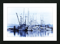 Fishers Wharf Picture Frame print