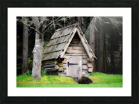 Old Root House Picture Frame print