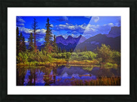 Three Sisters Peaks Picture Frame print