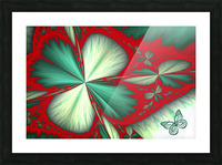 Shamrock and Butterfly Picture Frame print
