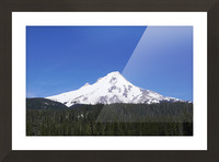 Blue Skies over Mount Hood Picture Frame print