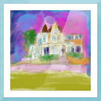 Victorian House at Cape May Picture Frame print
