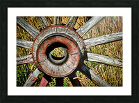 Old Wagon Wheel Picture Frame print