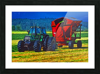 Making Hay Picture Frame print