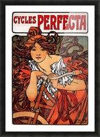Cycles Perfecta by Alphonse Mucha Picture Frame print