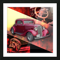 1935 Chevrolet 5-Window Coupe Picture Frame print