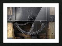 Une roue figee dans le temps Picture Frame print