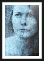 Un regard bleu - A Blue Gaze Picture Frame print