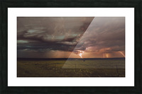 Lightning On The Prairies Picture Frame print