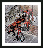 Italian Toy Antique Tricycles Picture Frame print