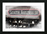 South Australia Sign Picture Frame print