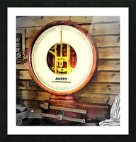 Weighing Scales Picture Frame print