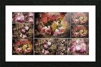 Vintage Floral Imaginings Collage Picture Frame print