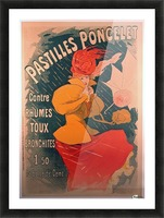 Original 1896 Lithograph Poster Pastilles Poncelet Picture Frame print