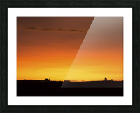 Strong Colours at the End of a Day Picture Frame print