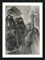 RA 014 - אישה מוסלמית - Muslim woman Picture Frame print