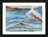 RA 002 - גל מתנפץ - crashing wave Picture Frame print