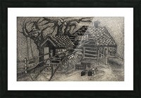 RA 013 - בית בכפר -  house in the village Picture Frame print