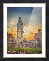 Philadelphia City Hall Picture Frame print