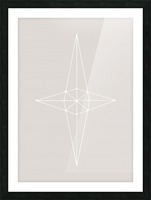 Grid Star Grey Picture Frame print