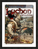 Luchon by Alphonse Mucha Picture Frame print