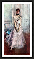 White pastel picture by Giovanni Boldini Picture Frame print
