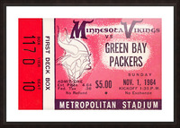 1964 Minnesota Vikings vs. Green Bay Packers Ticket Canvas Picture Frame print