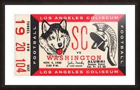1960 USC Trojans vs. Washington Huskies Picture Frame print