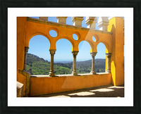 Shadows and Sunlight - Palace of Pena - Sintra Portugal Picture Frame print