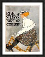 Ride a Stearns Picture Frame print