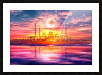 Surreal Taj Mahal Picture Frame print