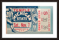 1936 Michigan State vs. Temple Football Ticket Art Picture Frame print