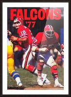 1977 Atlanta Falcons Retro Football Poster Picture Frame print