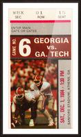 1984 Georgia Tech vs. Georgia Picture Frame print
