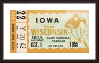 1955 Iowa Hawkeyes vs. Wisconsin Badgers Picture Frame print
