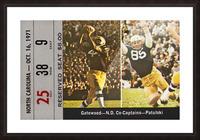 1971 Notre Dame vs. North Carolina Football Ticket Canvas Picture Frame print