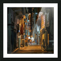 LateNightStreet Picture Frame print