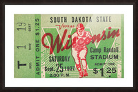1937 South Dakota Jackrabbits vs. Wisconsin Badgers Picture Frame print