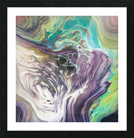 Peacock Marble Abstract Picture Frame print