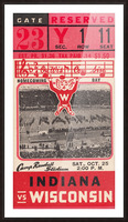 1941 Wisconsin vs. Indiana Picture Frame print