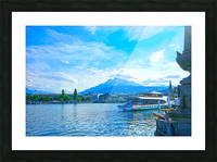 Mount Pilatus on the Shores of Lake Lucerne   Central Swiss Alps Picture Frame print