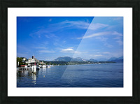 On the Shores of Lake Lucerne Picture Frame print
