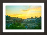 Sunset over Lucerne Switzerland Picture Frame print