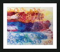 Rainbow Lizard Abstract Picture Frame print