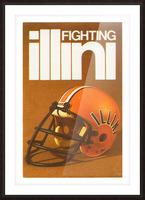 1980 Illinois Illini Football Poster Picture Frame print