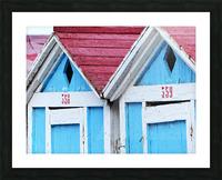 Beach cabin Picture Frame print